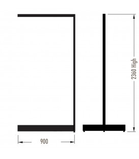 MAXe Gondola S3 Add-On Bay - Double Sided - 2360Hx900W - Black