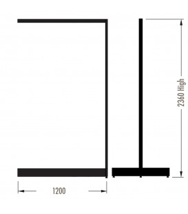 MAXe Gondola S3 Add-On Bay - Double Sided - 2360Hx1200W - Black