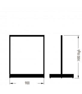 MAXe Gondola S3 Starter Bay - Double Sided - 1480Hx900W - White