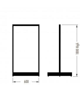 MAXe Gondola S3 Starter Bay - Double Sided - 1800Hx600W - Black
