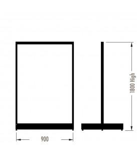 MAXe Gondola S3 Starter Bay - Double Sided - 1800Hx900W - Black