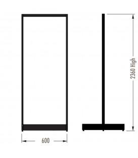 MAXe Gondola S3 Starter Bay - Double Sided - 2360Hx600W - Black