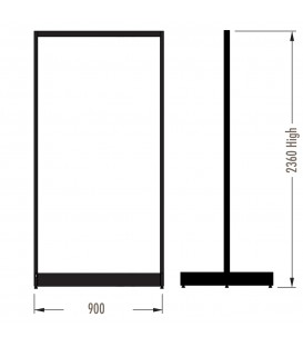 MAXe Gondola S3 Starter Bay - Double Sided - 2360Hx900W - Black
