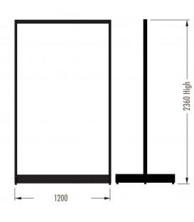 MAXe Gondola S3 Starter Bay - Double Sided - 2360Hx1200W - White