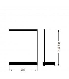 MAXe Gondola S3 Add-On Bay - Single Sided - 1480Hx900W - Black