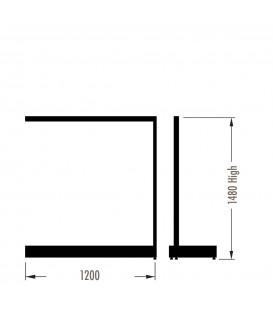 MAXe Gondola S3 Add-On Bay - Single Sided - 1480Hx1200W - White