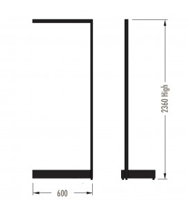 MAXe Gondola S3 Add-On Bay - Single Sided - 2360Hx600W - Black