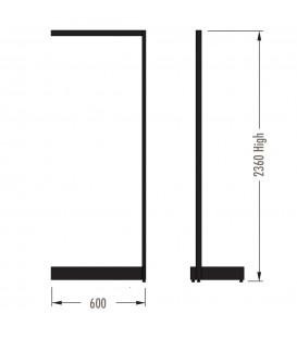 MAXe Gondola S3 Add-On Bay - Single Sided - 2360Hx600W - White