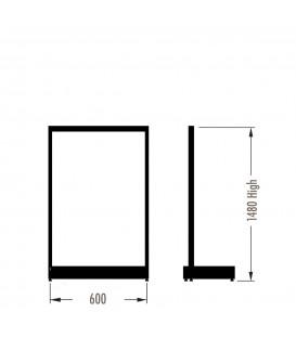 MAXe Gondola S3 Starter Bay - Single Sided - 1480Hx600W - Black