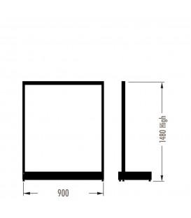 MAXe Gondola S3 Starter Bay - Single Sided - 1480Hx900W - Black