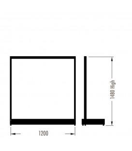 MAXe Gondola S3 Starter Bay - Single Sided - 1480Hx1200W - White