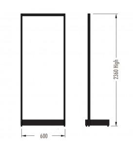 MAXe Gondola S3 Starter Bay - Single Sided - 2360Hx600W - Black
