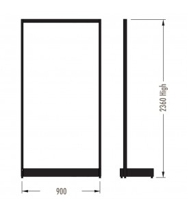 MAXe Gondola S3 Starter Bay - Single Sided - 2360Hx900W - Black