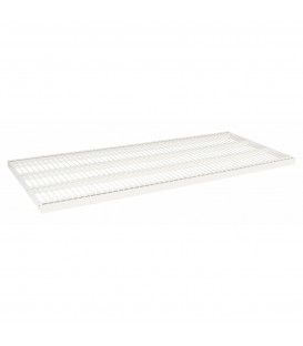 Wire Metal Shelf to suit 1200W Bay - White - 500D x 30mm Thick