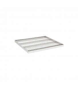 Wire Metal Shelf to suit 600W Bay - Chrome - 500D x 30mm Thick