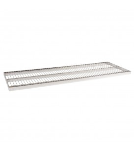 Wire Metal Shelf to suit 1200W Bay - Chrome - 400D x 30mm Thick