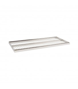 Wire Metal Shelf to suit 900W Bay - Chrome - 400D x 30mm Thick