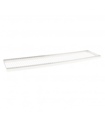 Wire Metal Shelf to suit 1200W Bay - White - 300D x 30mm Thick
