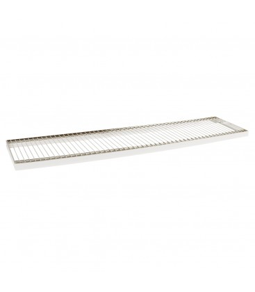Wire Metal Shelf to suit 1200W Bay - Chrome - 300D x 30mm Thick