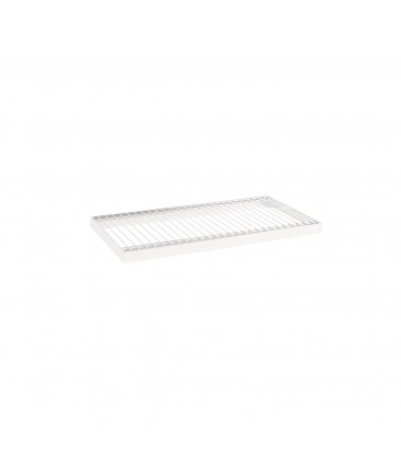 Wire Metal Shelf to suit 600W Bay - White - 300D x 30mm Thick