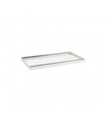 Wire Metal Shelf to suit 600W Bay - Chrome - 300D x 30mm Thick
