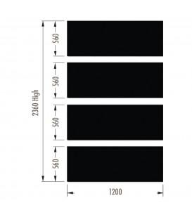 Infill Panels - Metal Peg - Black - suit 2380Hx1200W Units (inc Panel Brackets)