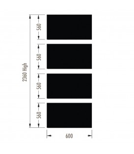 Infill Panels - Metal Peg - White - suit 2380Hx600W Units (inc Panel Brackets)