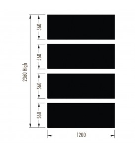 Infill Panels - Plain Metal - Black - suit 2380Hx1200W Units (inc Panel Brackets)