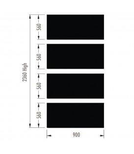 Infill Panels - Plain Metal - Black - suit 2380Hx900W Units (inc Panel Brackets)