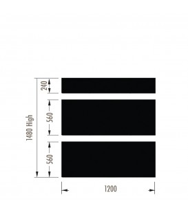 Infill Panels - Plain Metal - Black - suit 1480Hx1200W Units (inc Panel Brackets)