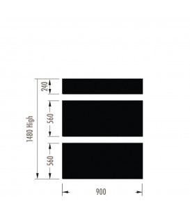 Infill Panels - Plain Metal - White - suit 1480Hx900W Units (inc Panel Brackets)