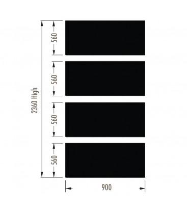 Infill Panels - Mesh - Black - suit 2380Hx900W Units (inc Panel Brackets)