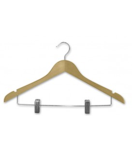 Hanger Shirt - Natural Timber - with Metal Clips