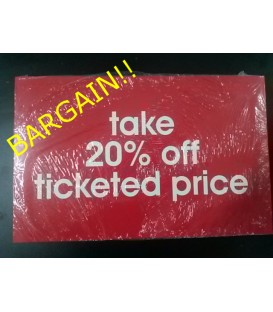 """Take 20% off"" Display Card Pack"
