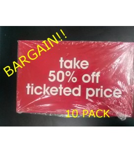 """Take 50% off"" Display Card Pack"