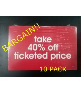"""Take 40% off"" Display Card Pack"