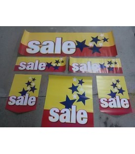 """Sale Stars"" display kit"