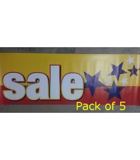 """Sale"" with stars Small Paper Banner"