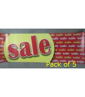 """Sale"" Style 2 Small Paper Banner"