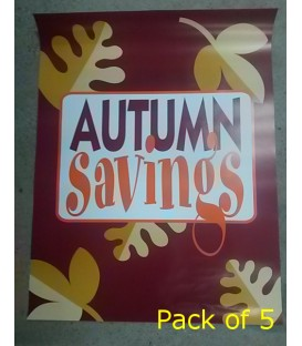 """autumn savings""  Poster"