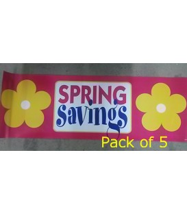"""Spring Savings"" Large Paper Banner"