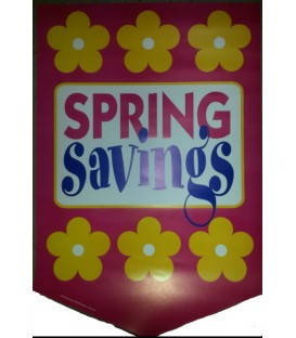 """Spring Savings"" Sale Paper Pennant"