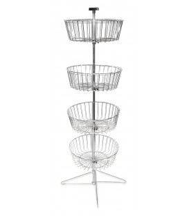 STAND SPINNER FLOOR BASKETx4
