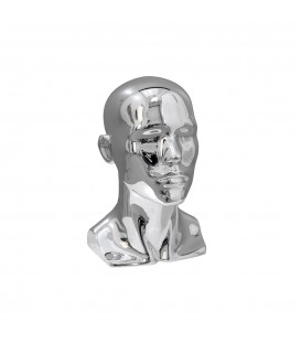 Fibreglass Head - Male Chrome