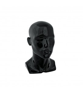 HEAD MALE 340mmH HIGH GLOSS BLK SFS