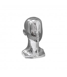 HEAD FEMALE 340mmH HIGH GLOSS CHROME