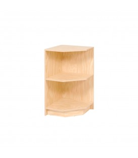 Open Corner Counter with Shelf - Laminated - Ply