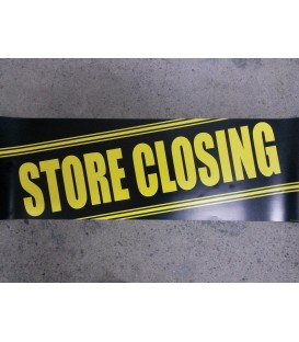 """Store Closing"" Small Paper Banner"