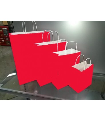 Red Paper Bags with Carry Handle