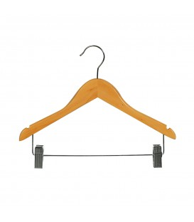 Hanger Child Timber with Rail and Clips 350mm wide Beech